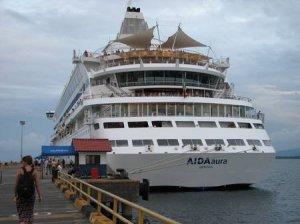 Круизный лайнер Aida Aura в Одессе